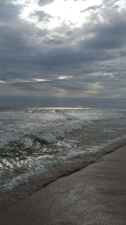 Grey Beach stock afbeelding