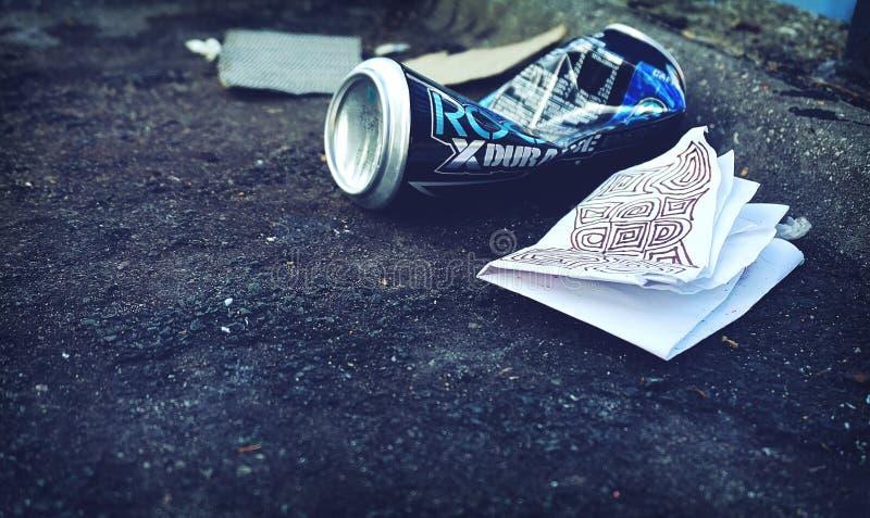Grey Beverage Bottle stock photography