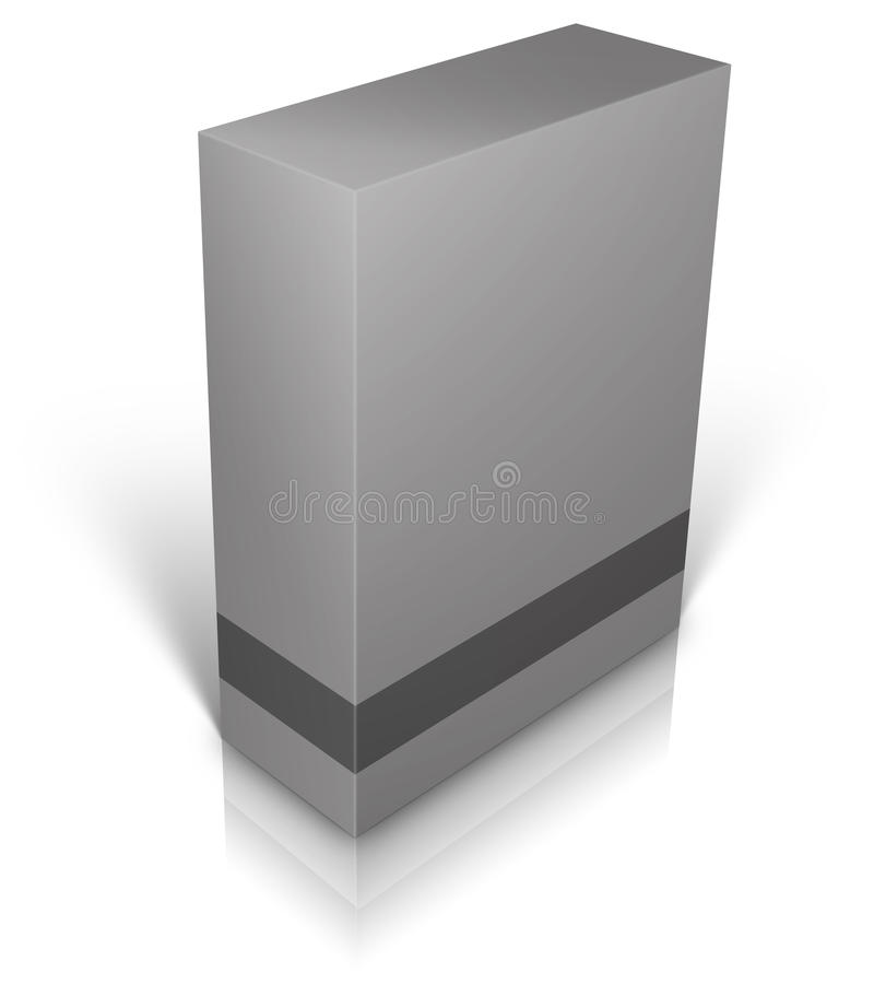 Grey blank box isolated on white vector illustration