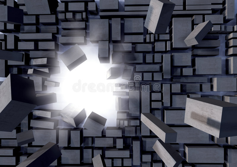 Download Grey Blocks Breaking Away Stock Images - Image: 4578574