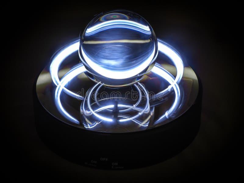 Grey blu della sfera al neon fotografia stock libera da diritti