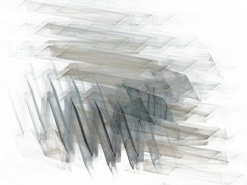 Grey blue chaotic strokes in the form of a fractal. On a white background royalty free stock photos