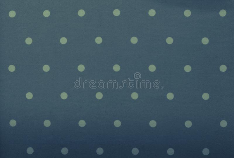 Grey-blue Fabric and white tiny polka dots background royalty free stock photography