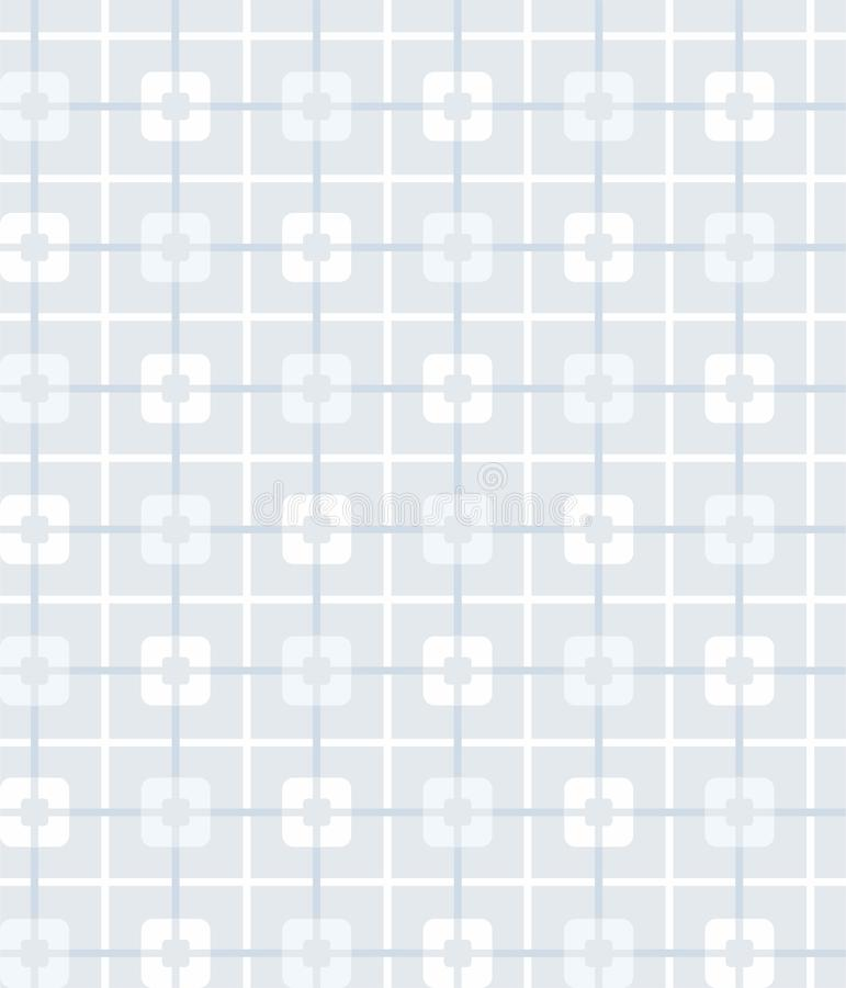 Grey-blue, geometric, seamless pattern, squares, background. royalty free illustration