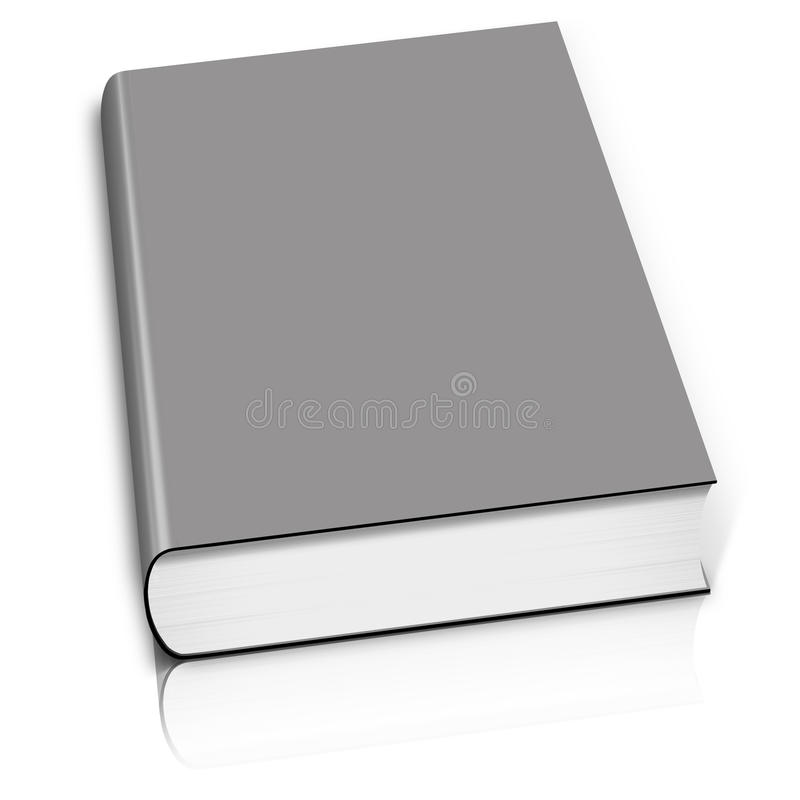 Grey book. Isolated on white royalty free illustration