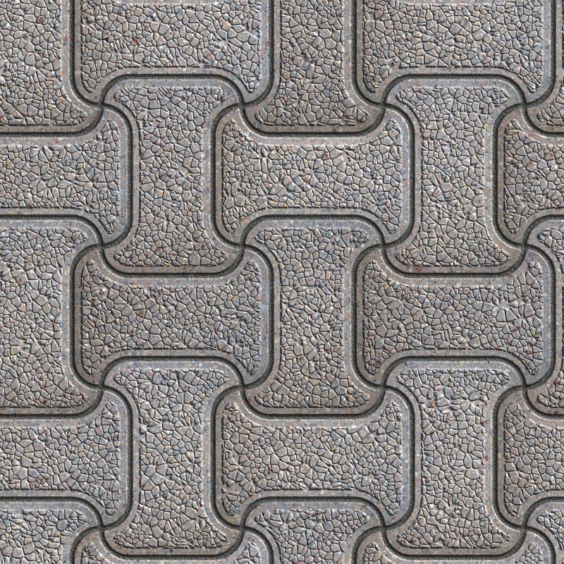 Grey Brick Pavers Naadloze textuur royalty-vrije stock afbeelding