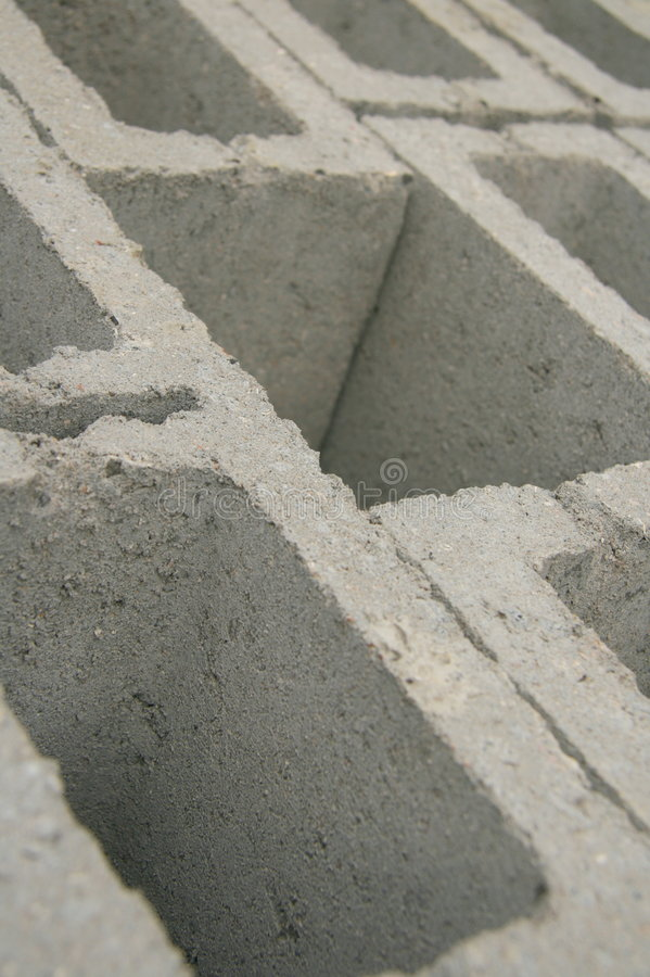 Grey bricks. Used for building a house stock photography