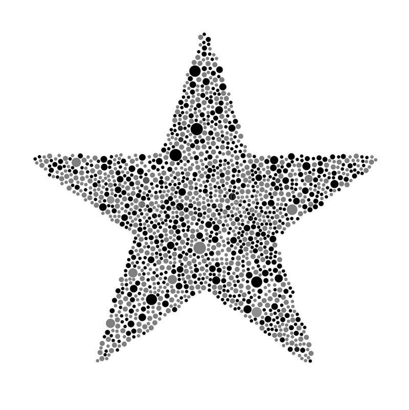 Grey Bubbles Star Random Dots preto ilustração royalty free