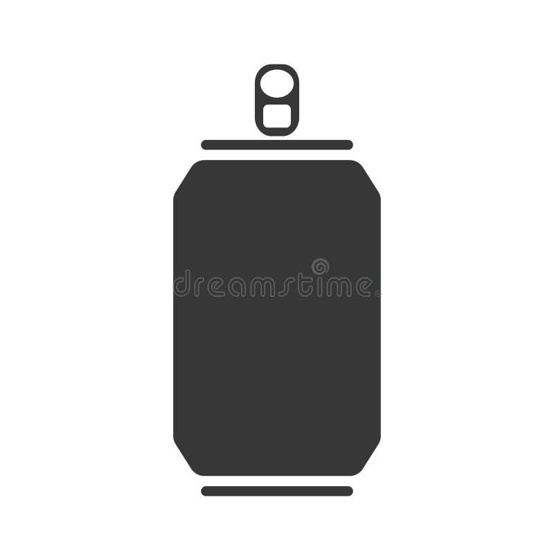Grey Can-pictogram vectoreps10 De limonade kan vectoreps10 vector illustratie