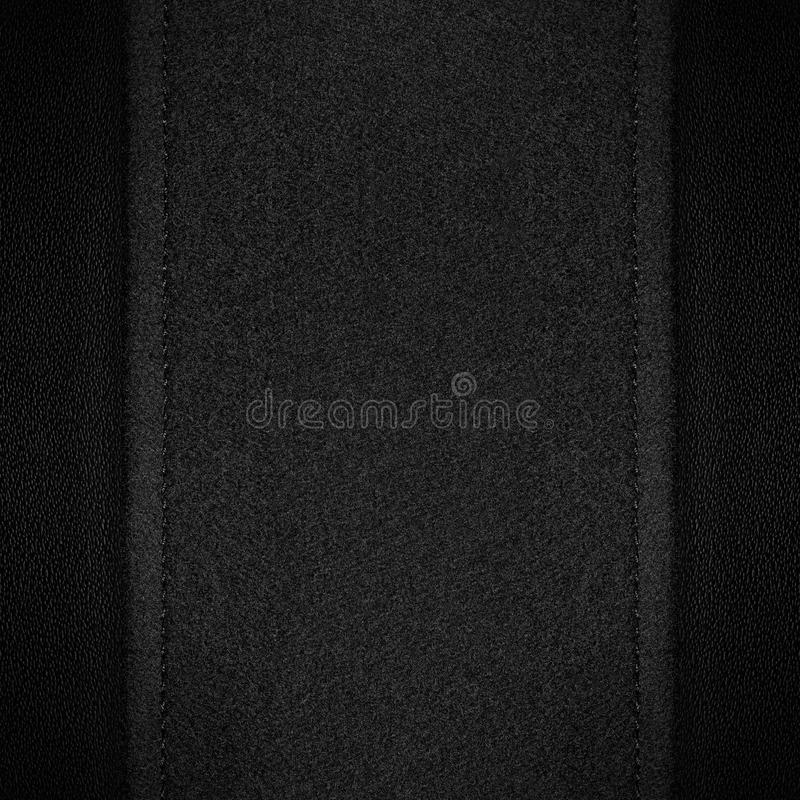 Download Grey Canvas Background On Black Leather Stock Image - Image: 28879823