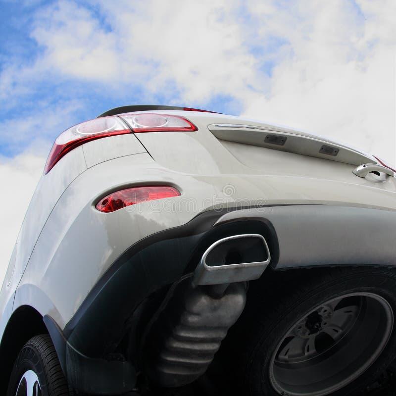 The Grey Car. Royalty Free Stock Photo