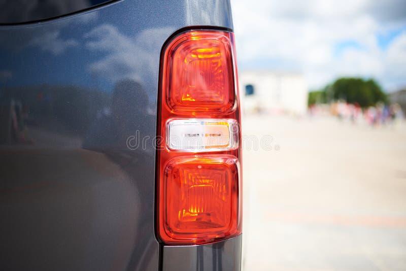 Grey car rear square headlight royalty free stock photo