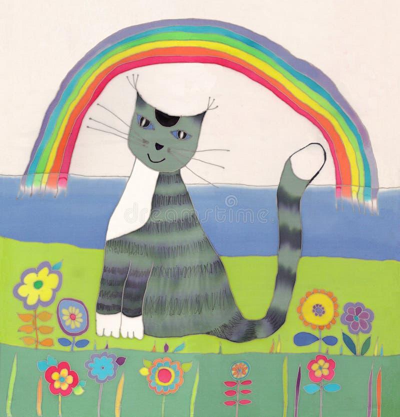 Grey cat vector illustration