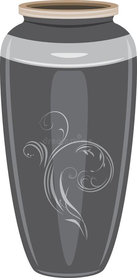 Grey Ceramic Vase Stock Photos
