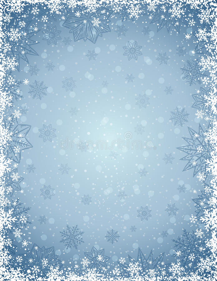 Free Grey Christmas Background With Frame Of Snowflakes And Stars Royalty Free Stock Images - 79221529
