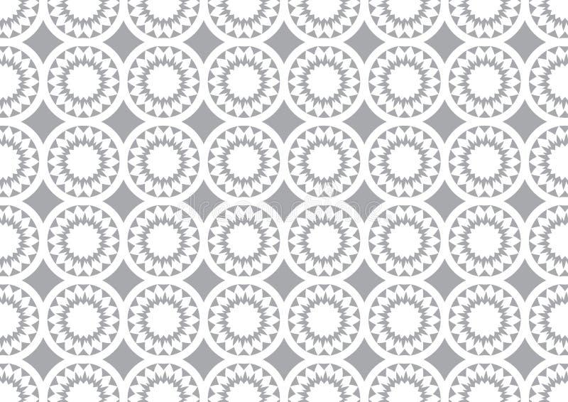 Grey Circle Kaleidoscope Pattern Background für Tapete stock abbildung
