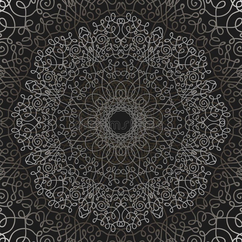 Grey Circle Lace Ornament ilustração royalty free