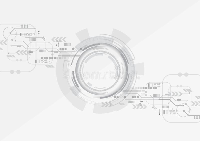Grey Circle Technology Background ilustração royalty free