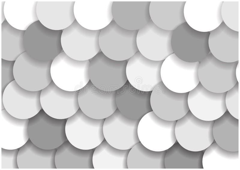 Grey circles background royalty free illustration
