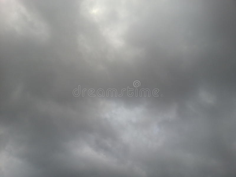 Grey clouds stock image