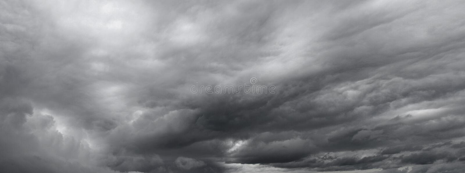 Grey clouds. In the sky royalty free stock photography