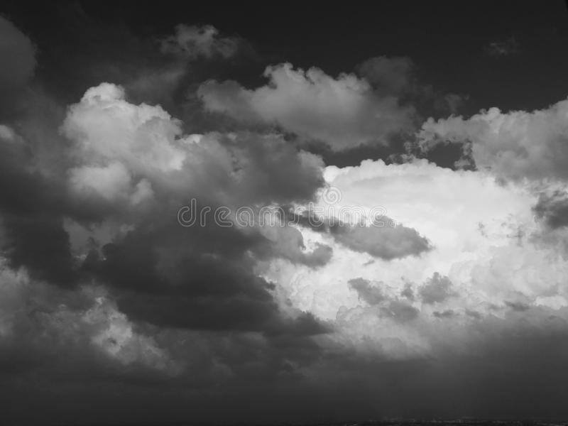 Grey clouds stock photo
