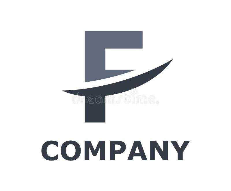 Slice alphabet logo f. Grey color logo symbol slice type letter f by blade initial business logo design idea illustration shape for modern premium corporate royalty free illustration