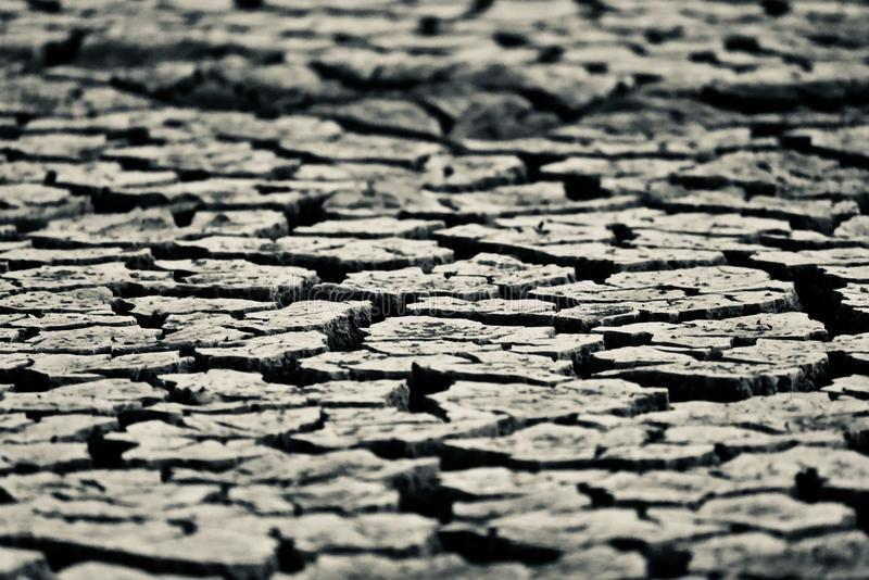 Grey coloured dried isolated soil stock photograph. Stylish and beautiful grey coloured dried isolated soil surface with cracks stock photograph stock photography