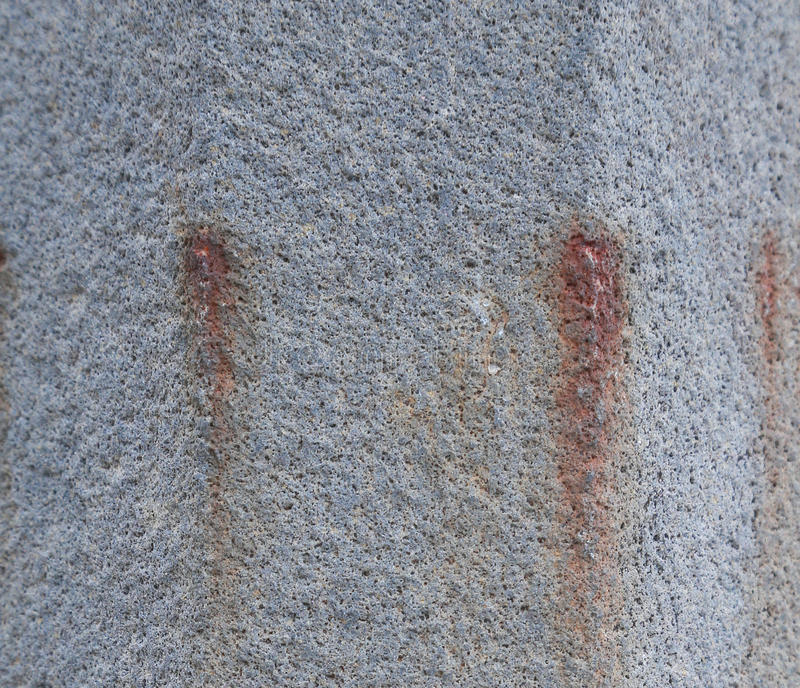 Grey concret with rust royalty free stock photography