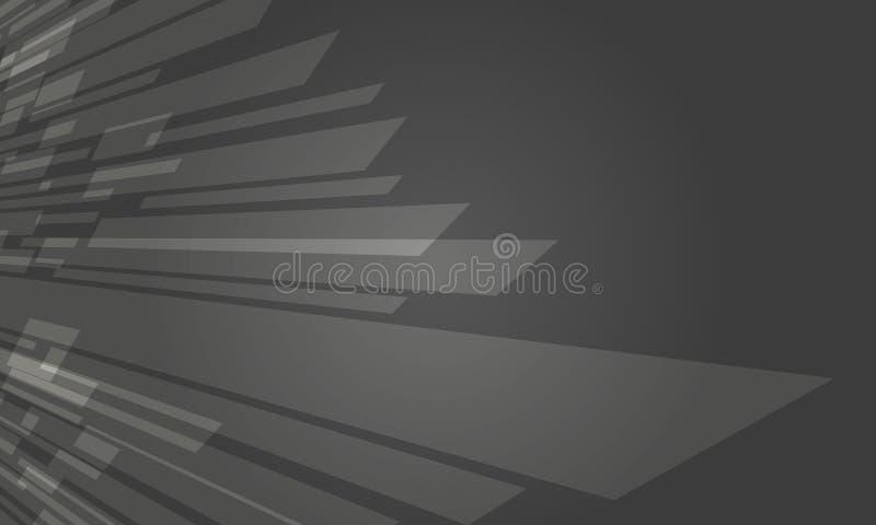 Grey Crystal Abstract Background Design escuro futurista ilustração stock