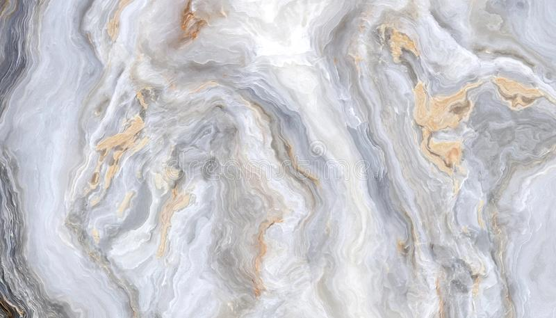 Grey curly marble stock illustration