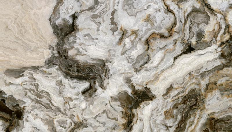Grey curly marble pattern royalty free illustration