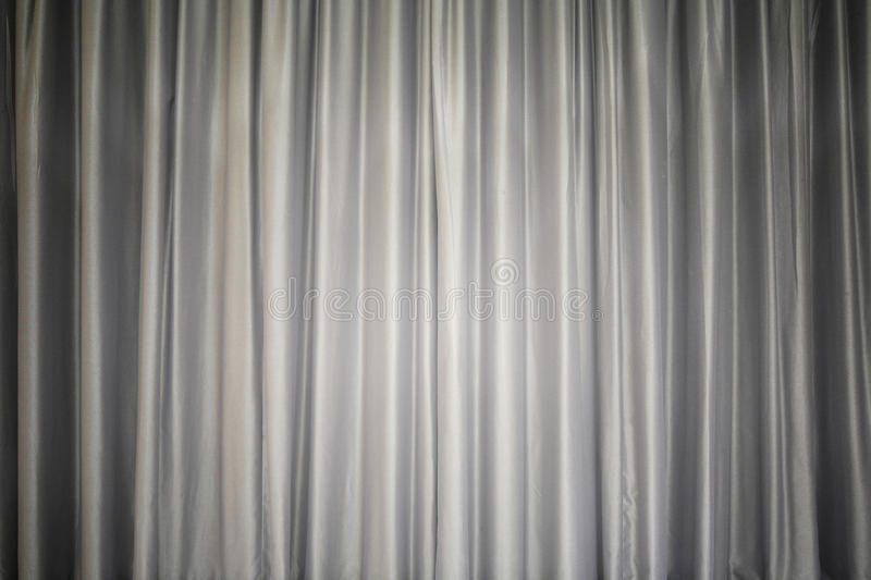 Light gray fabric curtain closed like on a theater show for Gray curtains texture