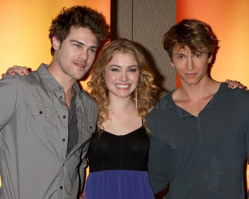 Grey Damon,Benjamin Stone,Skyler Samuels Editorial Stock Photo