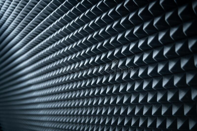 Grey dampening acoustic foam royalty free stock images