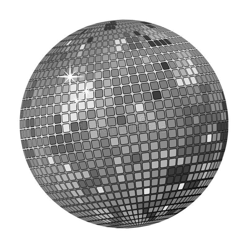 Grey della sfera della discoteca illustrazione di stock