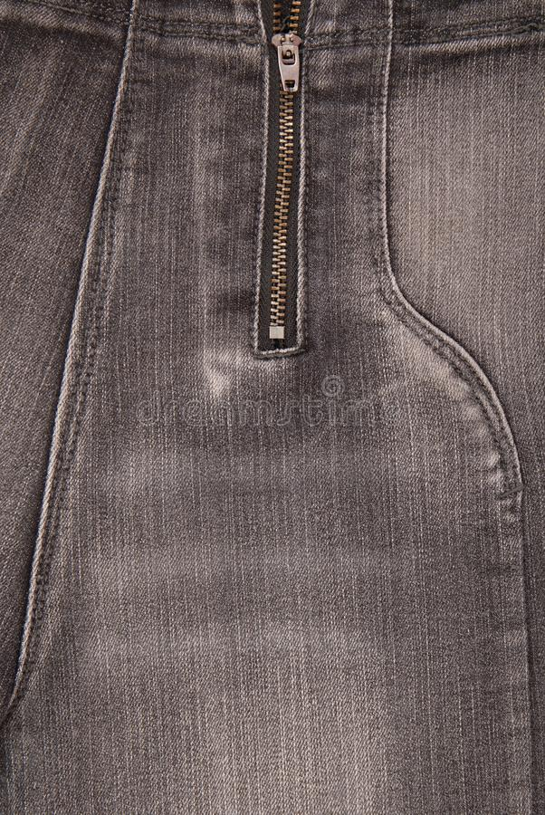 Grey denim backgrounds, close up of jeans, fashionable trousers stock images