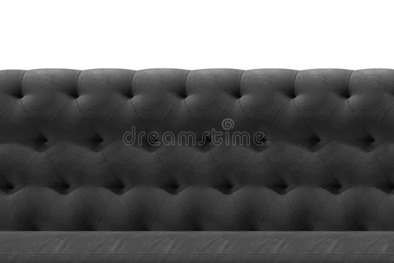 Grey di lusso, bronzo, fondo nero del modello del primo piano del cuscino del velluto del sofà su bianco immagini stock libere da diritti