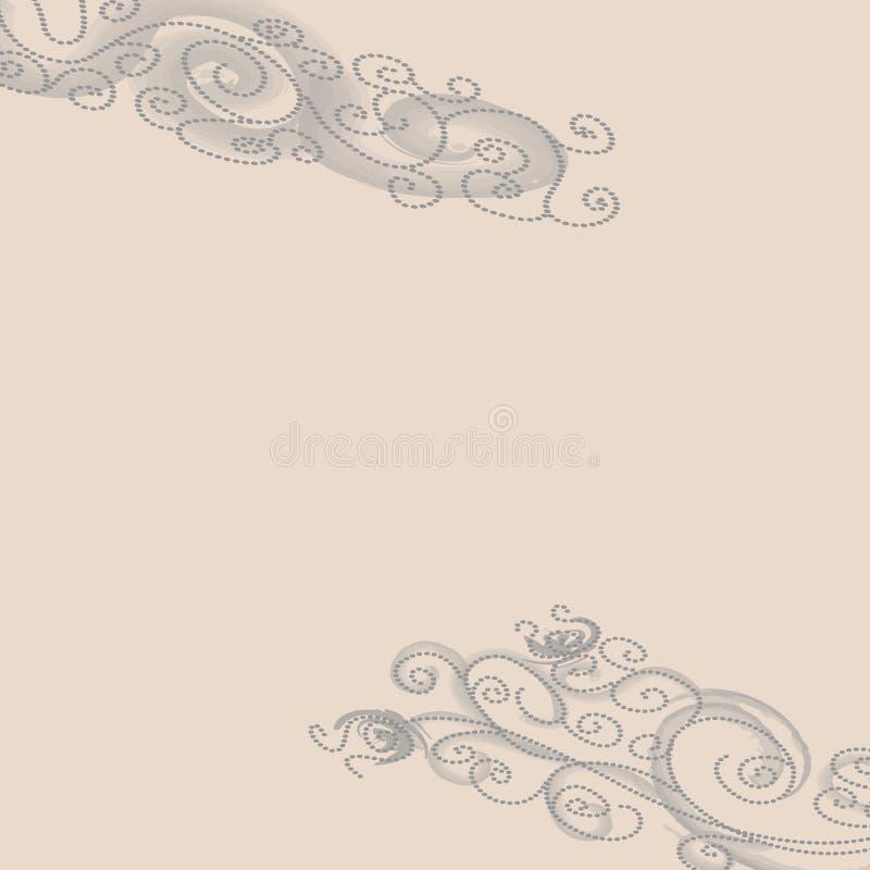 Download Grey Dotted Swirls On Beige Background Stock Illustration - Image: 24713339