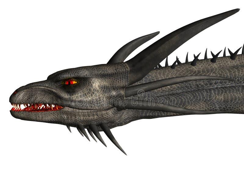 Grey Dragon in close-up royalty free illustration