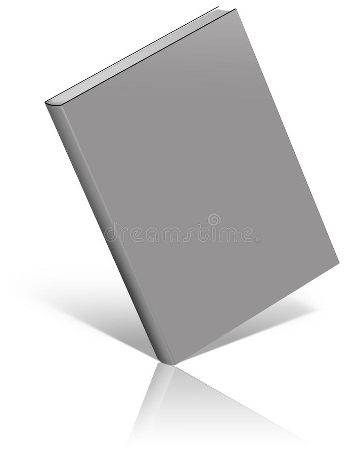 Grey empty book template. On white background stock illustration