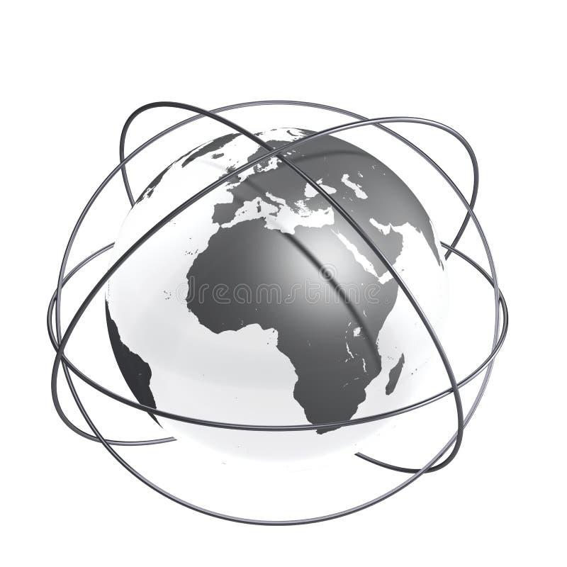Grey förbindelsejord vektor illustrationer