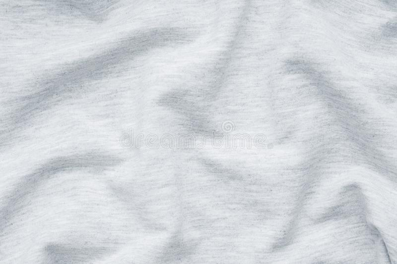 Grey fabric texture. Background of clothing details.  stock photography