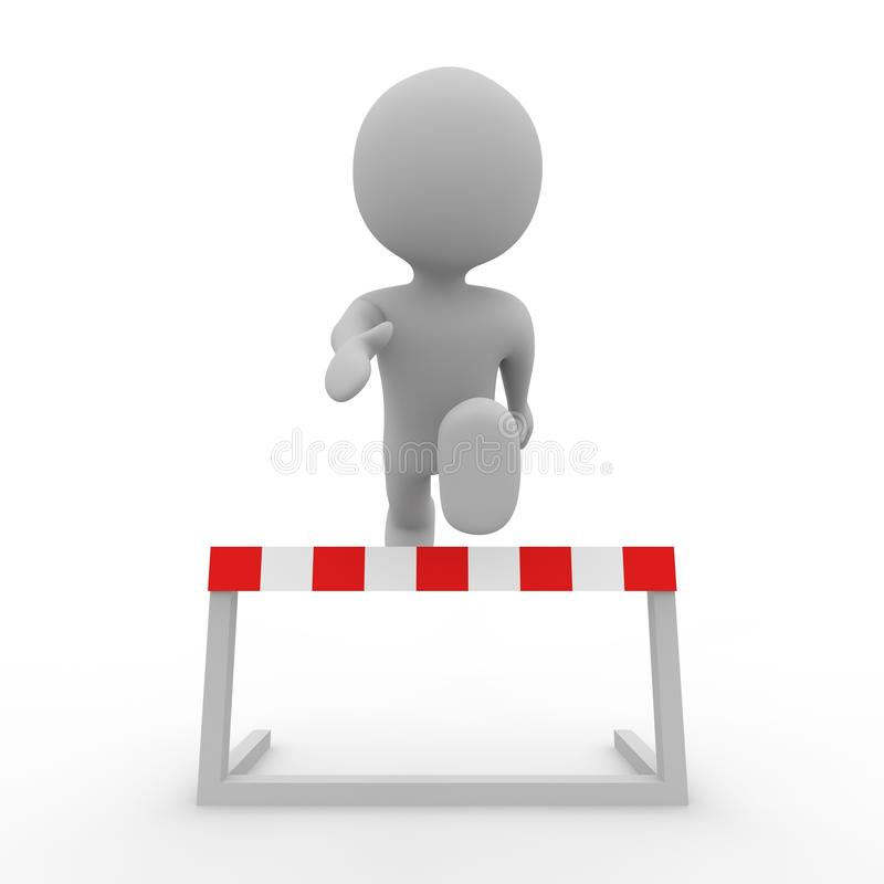 Download Grey Figure Jumping Over A Hurdle Stock Illustration - Image: 25183547