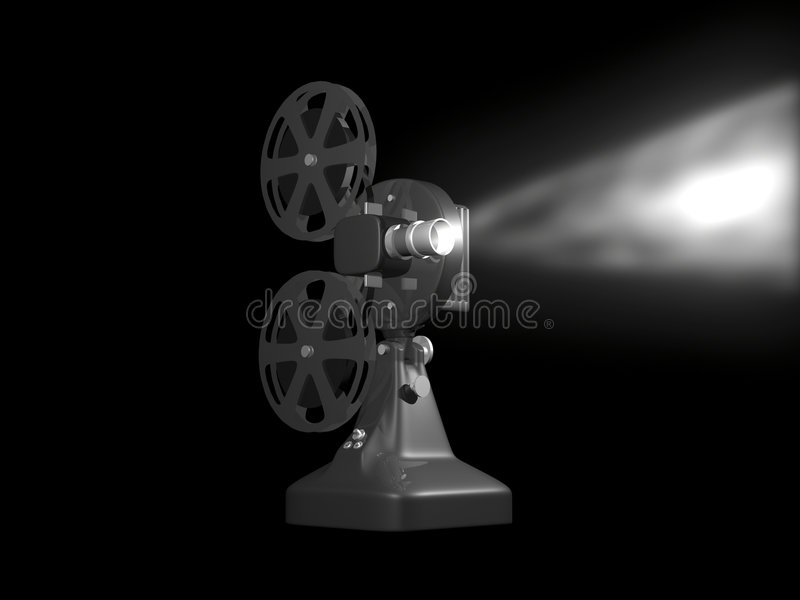 Download Grey film projector stock illustration. Illustration of theater - 4631538