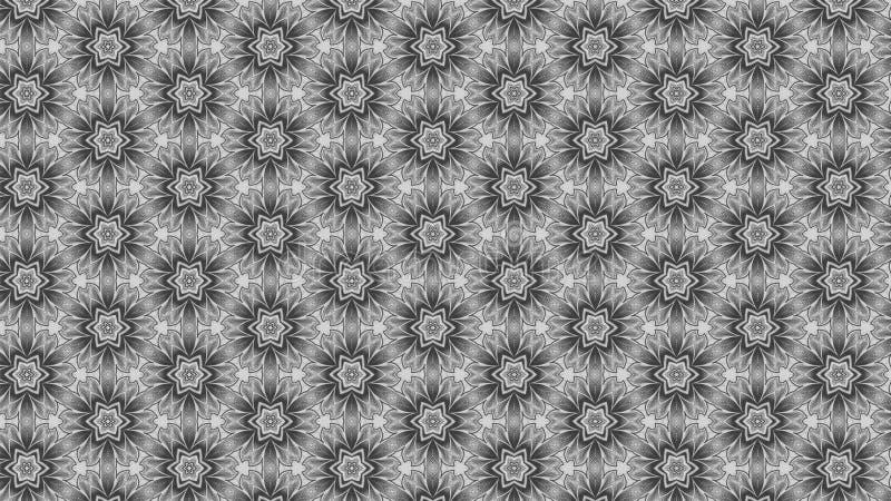 Grey Floral Pattern Background stock de ilustración