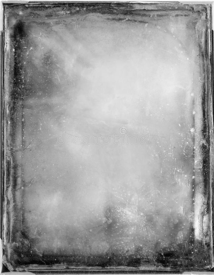 Black and white frame with scratches and damages.Texture or background. royalty free stock photo
