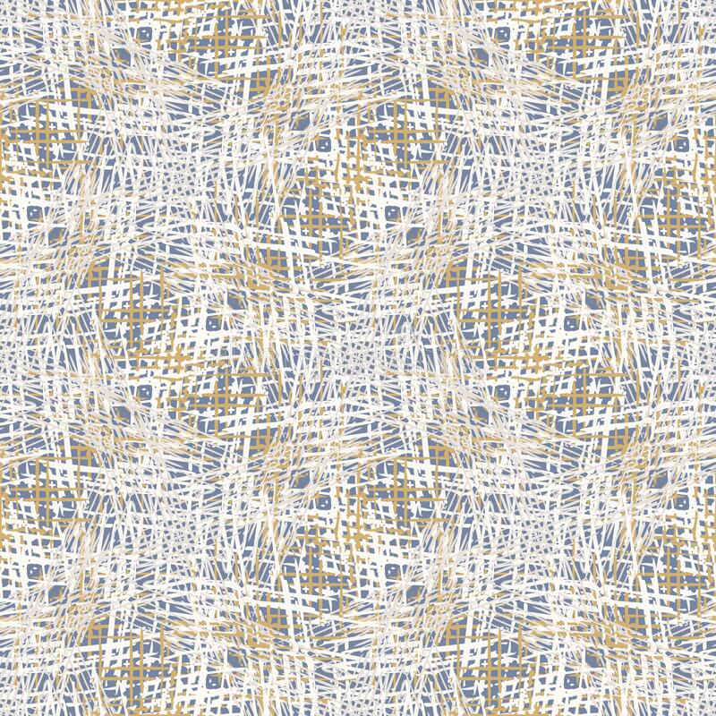 Grey french linen vector texture seamless pattern. Brush stroke grunge ornamental woven abstract background. Country farmhouse. Style textile. Irregular royalty free illustration