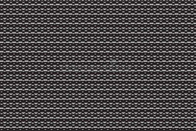 Grey Futuristic Print foncé illustration stock
