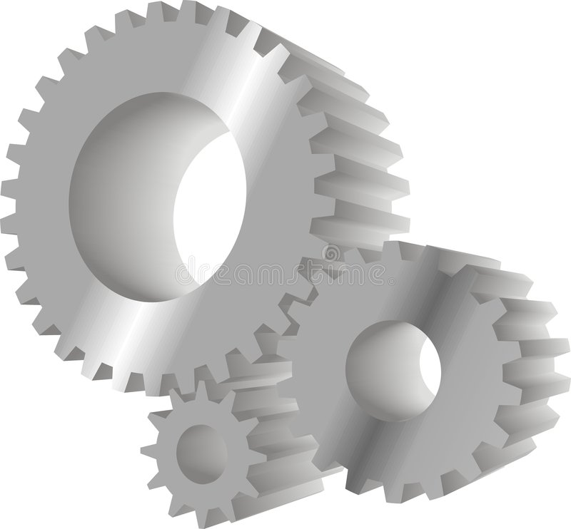 Download Grey gears stock vector. Image of geared, device, component - 6186475